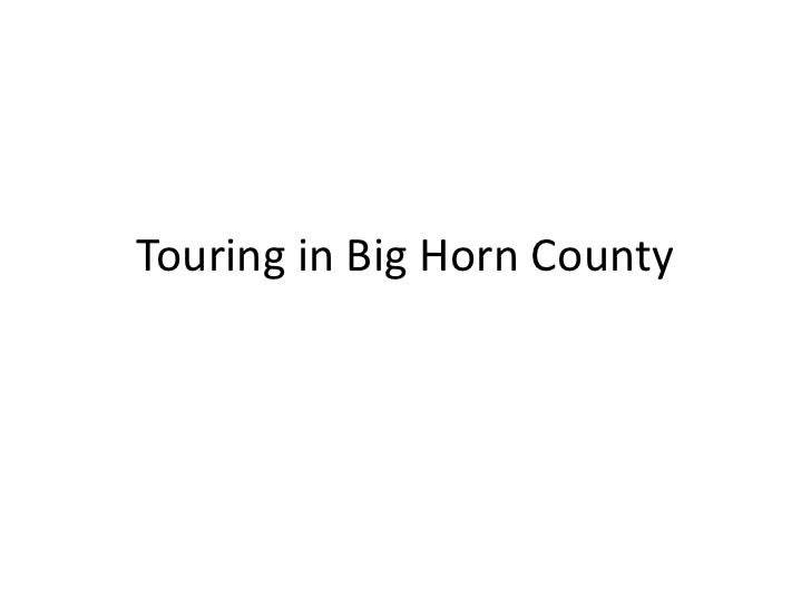 Touring in Big Horn County