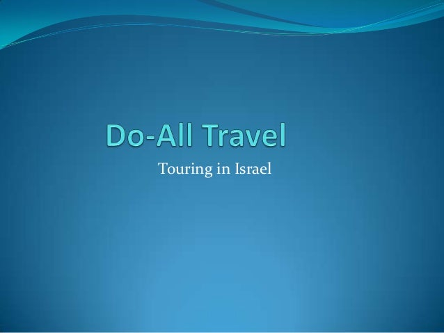 Touring in Israel