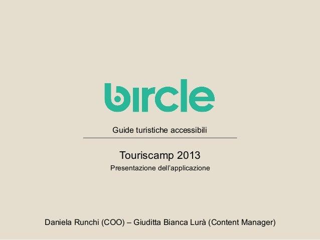 Bircle al Touriscamp 2013