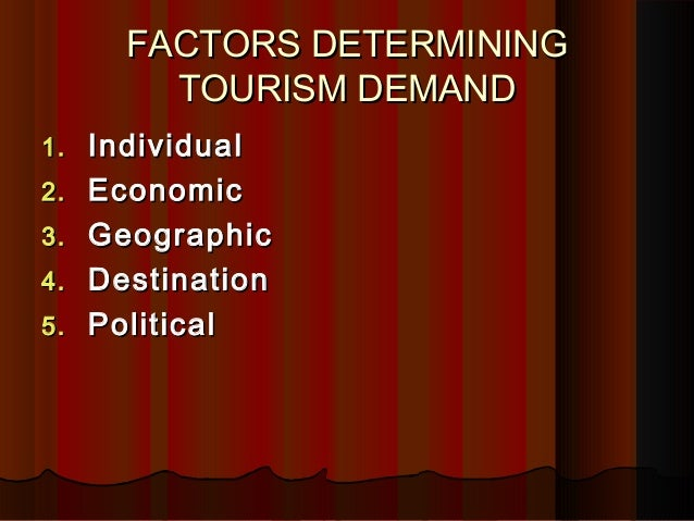 the determinants of tourism demand The purpose of this study was to analyze the determinants of investment, demand and supply of  and demand tourism,  tourism demand and supply affects .