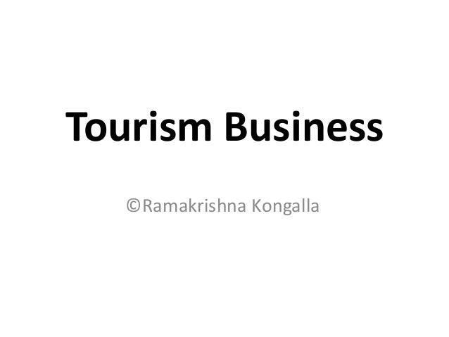 Tourism Business ©Ramakrishna Kongalla