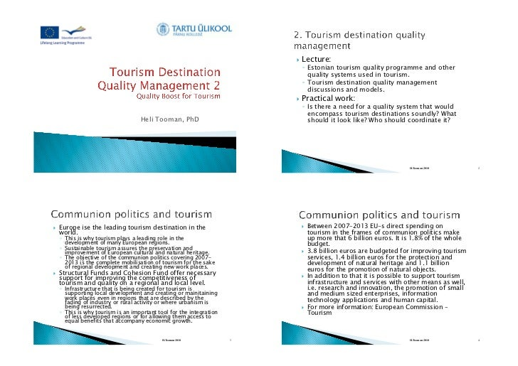 !    Lecture:                                                                                !  Estonian tourism quality p...