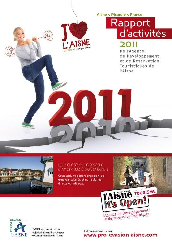 Aisne Tourisme Rapport d'activités 2011