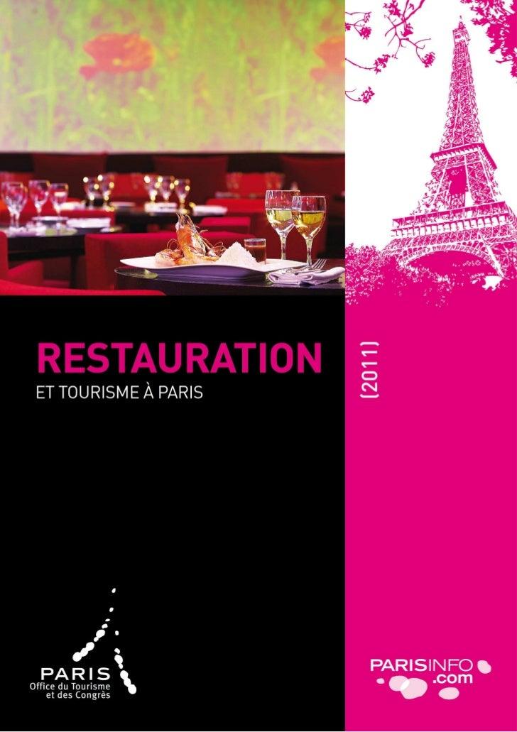 Tourisme à Paris et restauration       Page de garde                                   7