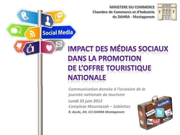 Impact des médias sociaux dans la promotion de l'offre touristique
