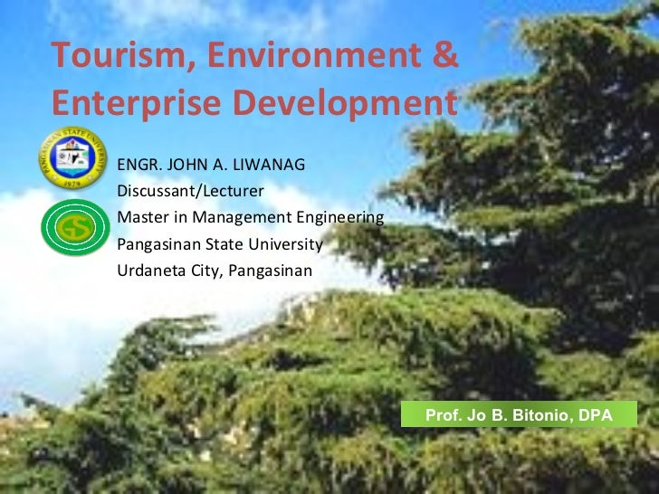 Tourism, Environment &  Enterprise Development