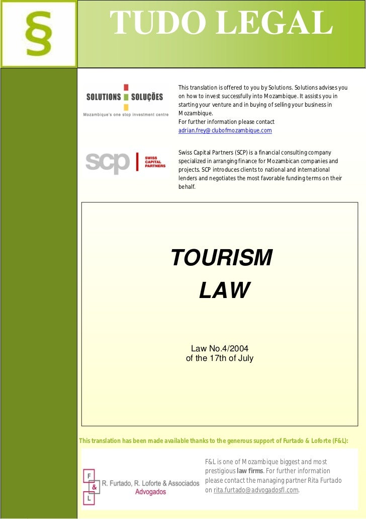 Mozambique's Tourism Law