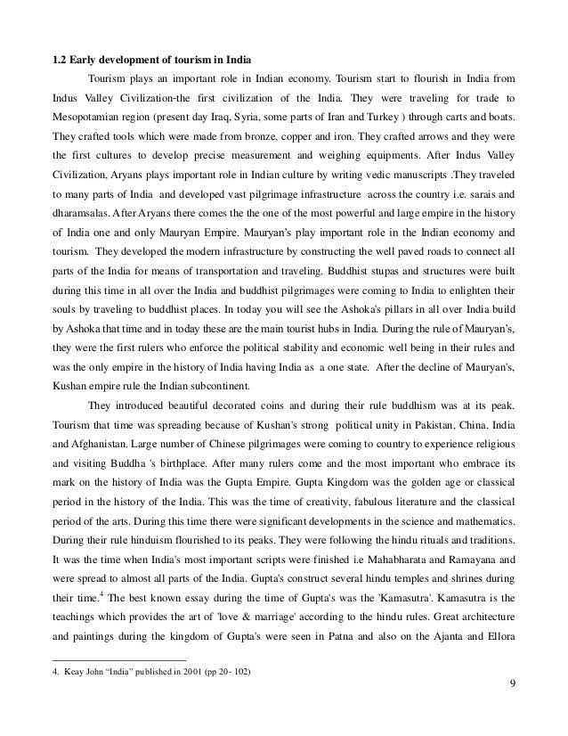thesis on tourism development