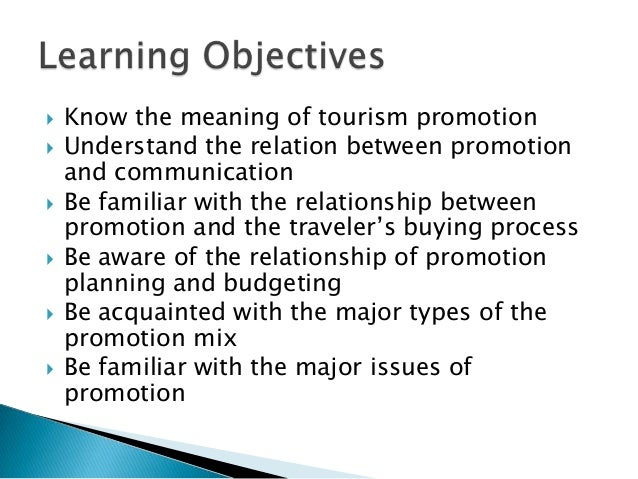 promotion of tourism essay