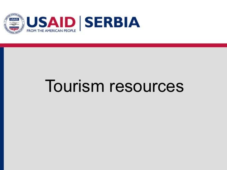 Tourism resources