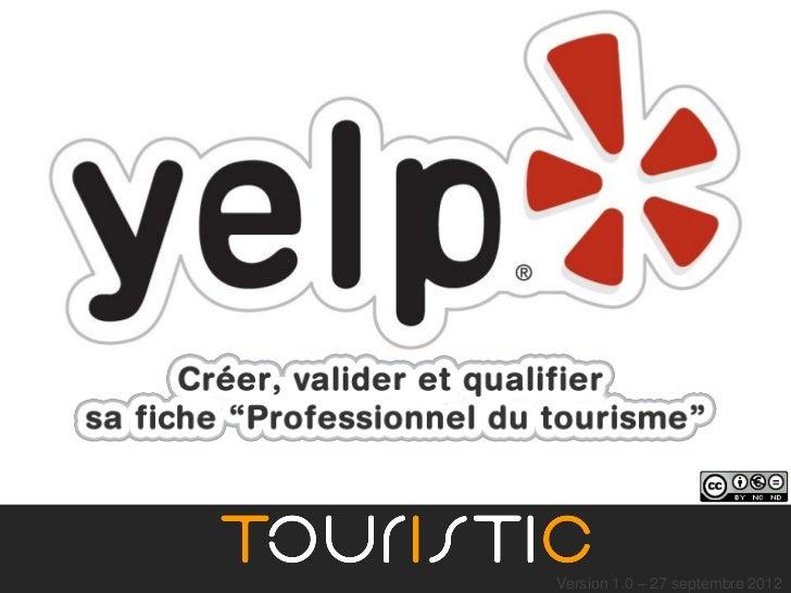 Yelp - optimiser sa fiche pour un professionnel du tourisme avec Touristic