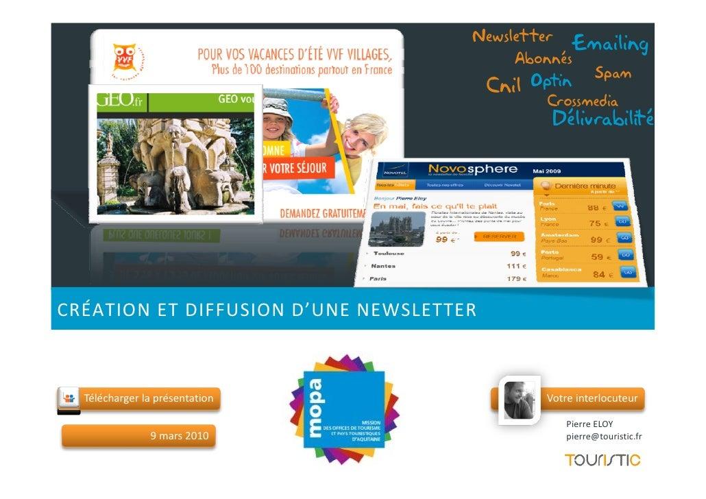 Touristic Gerer Ses Emailings et newsletters dans le Tourisme
