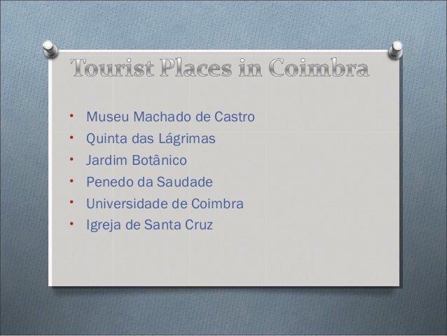 Tourist places in_coimbra