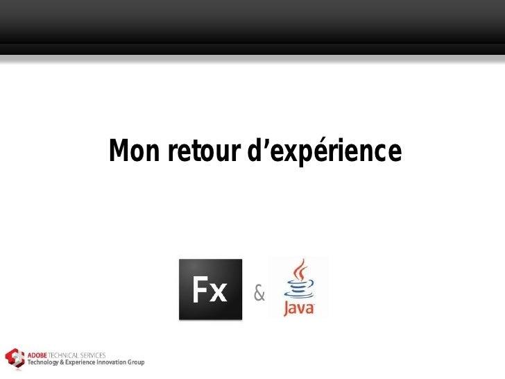 Flex & Java @ TourJUG