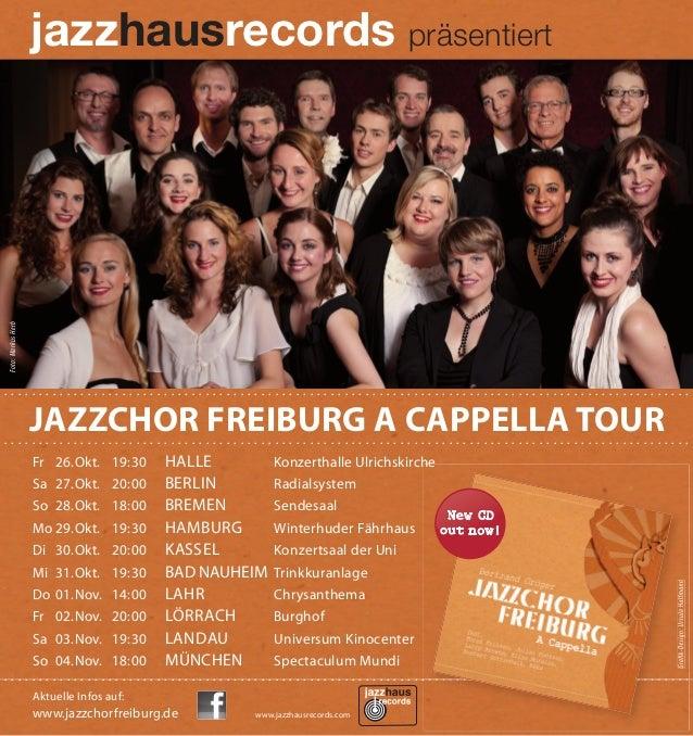 Jazzchor Freiburg German Tour 2012