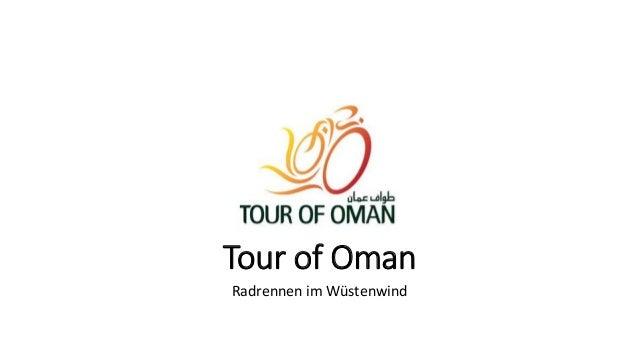 Tour of Oman Radrennen im Wüstenwind