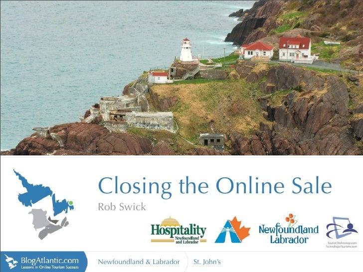 Closing the Online Sale - Newfoundland Labrador