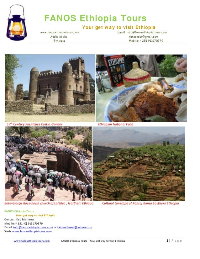 Tour to ethiopia with fanos ethiopia tours