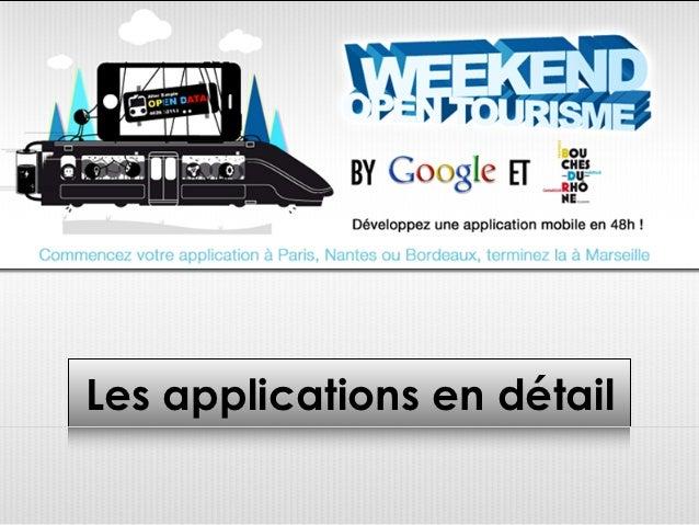 Toutes les applications open tourisme