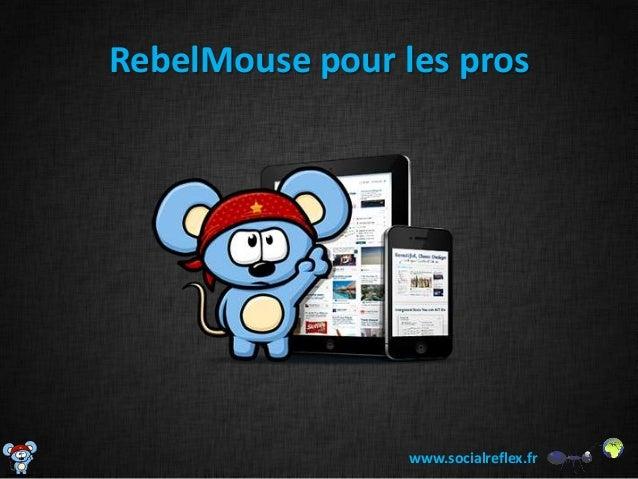 RebelMouse pour les pros                 www.socialreflex.fr