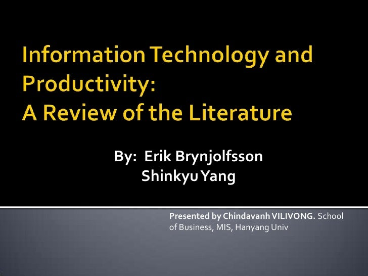 Literature review on impact of information technology