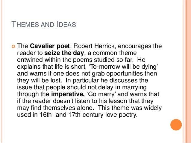 Robert Herrick seize the day