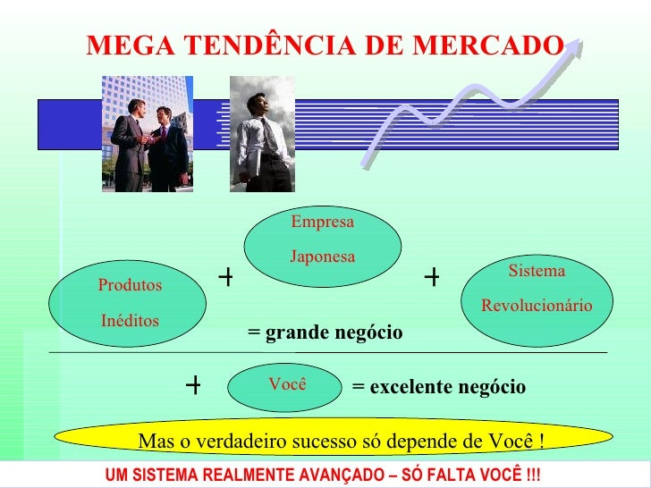 MEGA TENDÊNCIA DE MERCADO UM SISTEMA REALMENTE AVANÇADO – SÓ FALTA VOCÊ !!!   Produtos Inéditos Mas o verdadeiro sucesso s...