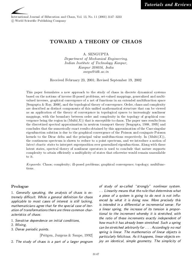 Tutorials and ReviewsInternational Journal of Bifurcation and Chaos, Vol. 13, No. 11 (2003) 3147–3233 c World Scientific Pu...