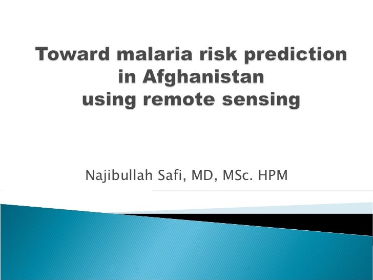 Toward malaria risk_prediction_in_afghanistan