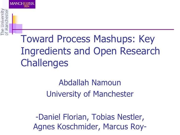 Toward Process Mashups
