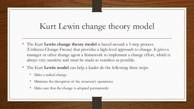 nurse to patient ratio implementing lewins change theory