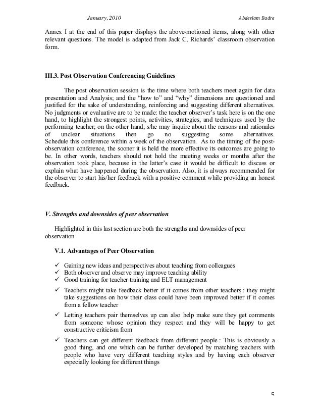 Teacher Reflection Essay