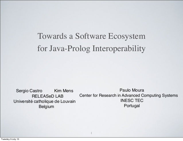 Towards a software ecosystem for java prolog interoperabilty