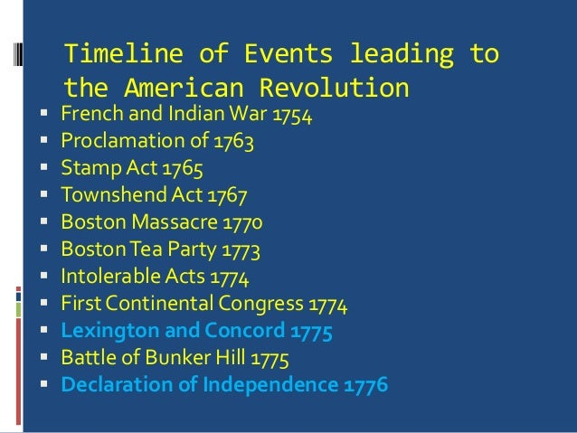 events leading up to the declaration Transcript of what events led up to the declaration of independence what events led up to the declaration of independence alanis harris 11/25/12 french and indian war the french and indian war was a war between england and the american colonies against the french and the indians of north america.
