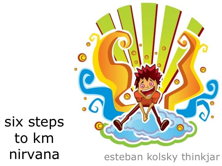 six steps  to km nirvana    esteban kolsky thinkjar