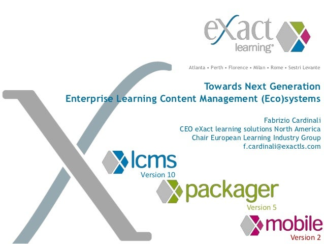 Towards next generation learning content management ecosystems