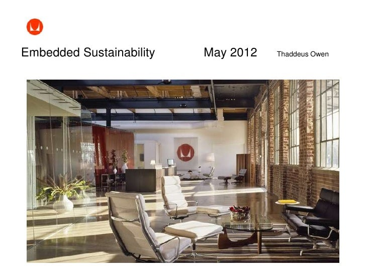 Business and Environment Series: Owen - Embedded Sustainability at Herman Miller