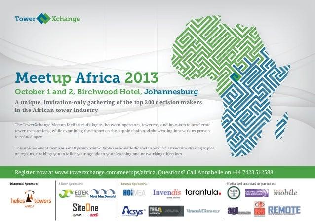 TowerXchange Meetup Africa 2013 Final Programme Agenda