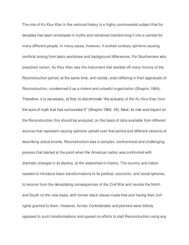 Ku klux klan leader interview essay