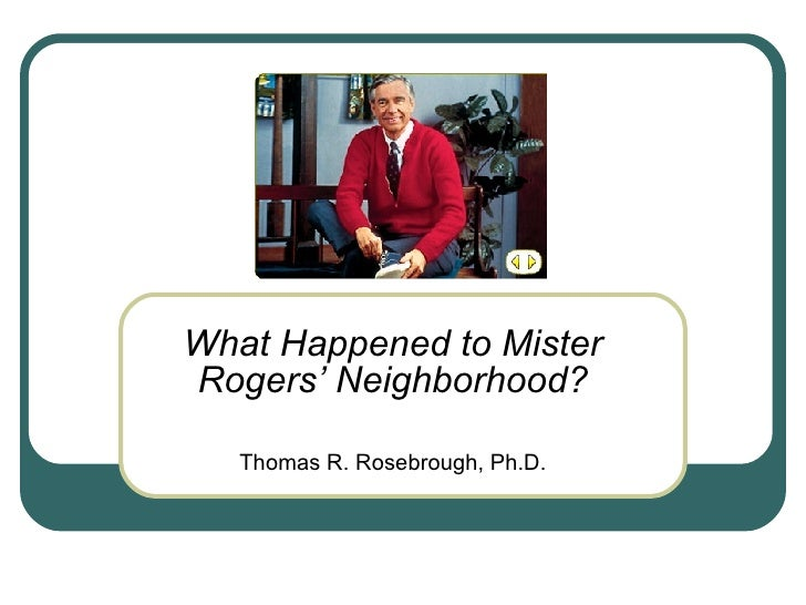 Town Gown Mr. Rogers Neighborhood
