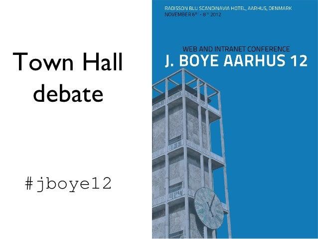 Town hall debate from J. Boye Aarhus 12