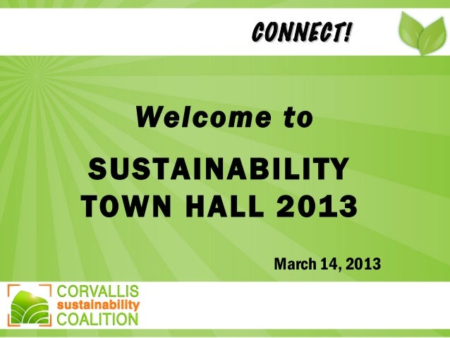 Corvallis Sustainability Coalition Town Hall 2013
