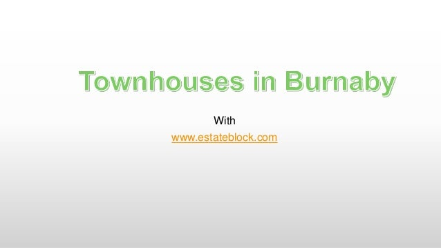 Townhouses in Burnaby
