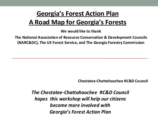 Georgia's Forest Action Plan A Road Map for Georgia's Forests We would like to thank The National Association of Resource ...