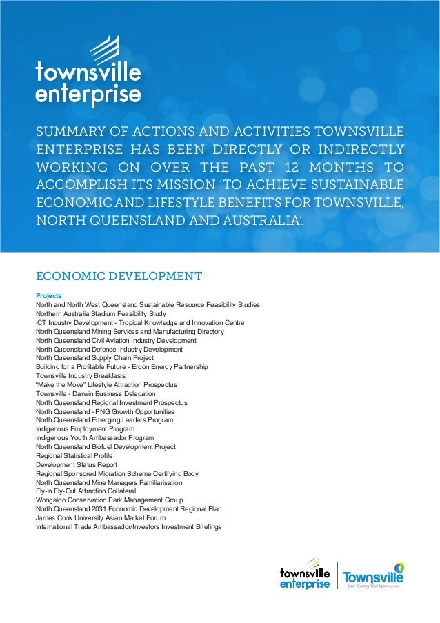 Townsville Enterprise Limited Achievements Update 20 May 2014