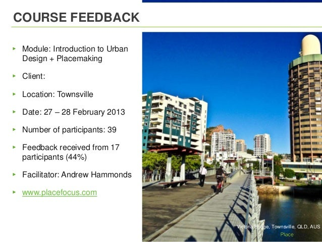 Townsville Course Feedback
