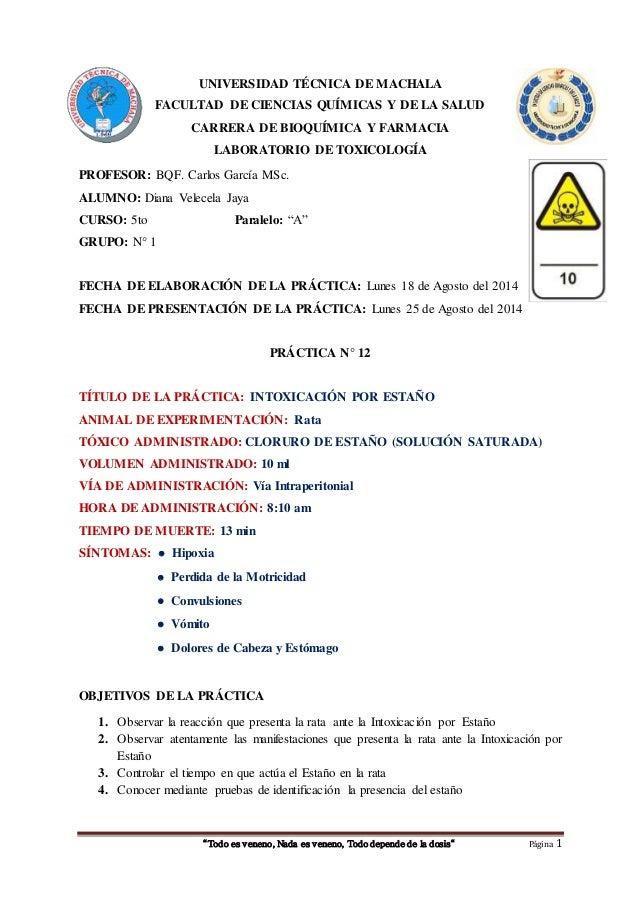 UNIVERSIDAD TÉCNICA DE MACHALA  FACULTAD DE CIENCIAS QUÍMICAS Y DE LA SALUD  CARRERA DE BIOQUÍMICA Y FARMACIA  LABORATORIO...