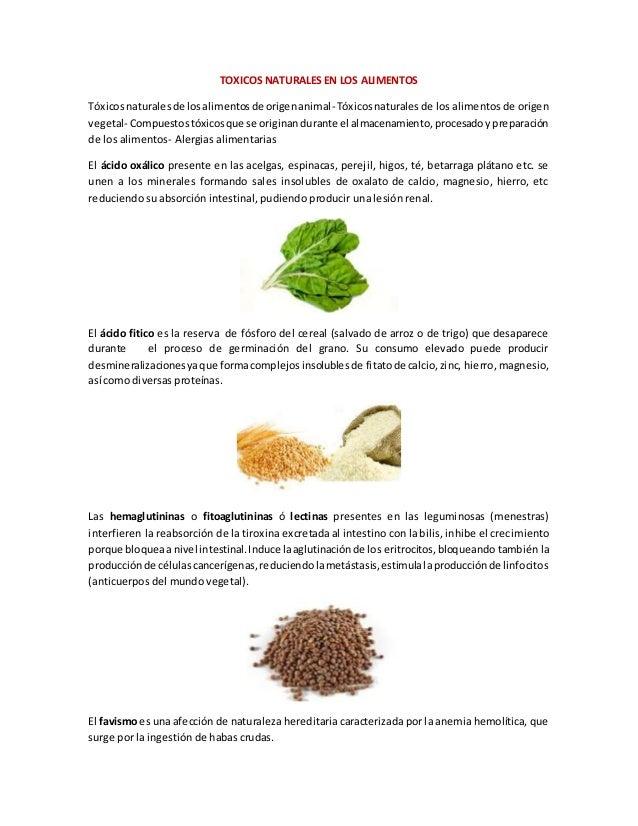 TOXICOS NATURALES EN LOS ALIMENTOS Tóxicosnaturalesde losalimentosde origenanimal-Tóxicosnaturales de los alimentos de ori...