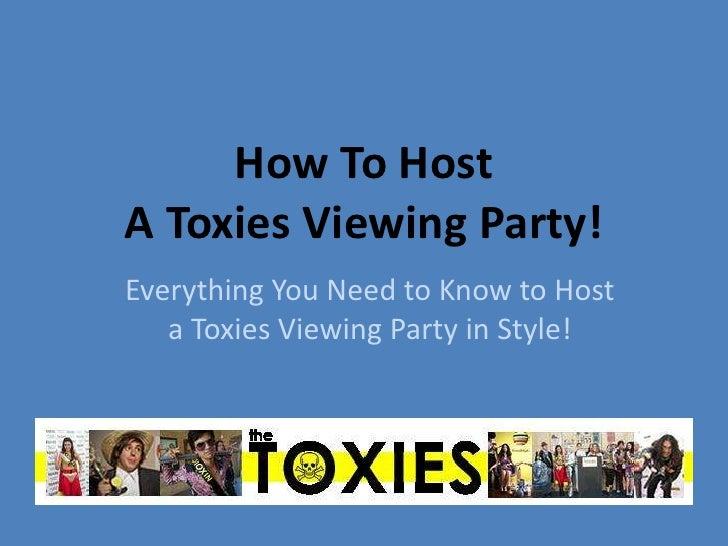Toxies viewing party webinar