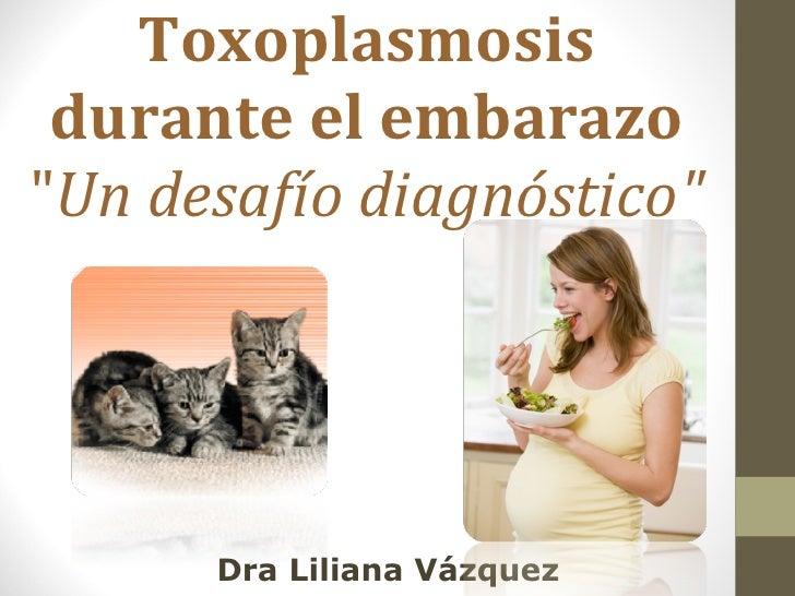 """Toxoplasmosis durante el embarazo """" Un desafío diagnóstico"""" Dra Liliana Vázquez"""